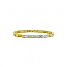Roberto Coin 18k Yellow Gold Symphony Collection Diamond Braided Bangle