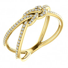 14k Yellow Gold Stuller Diamond Knot Fashion Ring