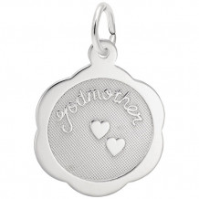 Rembrandt Sterling Silver Godmother Disc Charm
