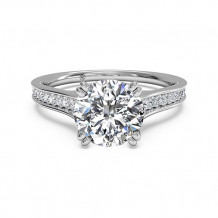 Ritani Micropave Diamond Band Engagement Ring with Surprise Diamonds