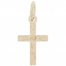 14k Gold Cross Charm