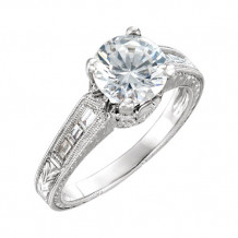 Stuller 14k White Diamond Semi-mounting Engagement Ring