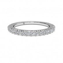 Ritani Women's Open Micropave Diamond Eternity Wedding Band