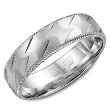 CrownRing 14k White Gold Wedding Band
