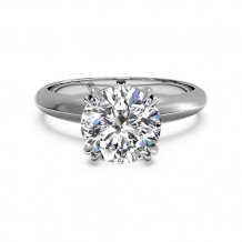 Ritani Solitaire Diamond Knife-Edge Tulip Engagement Ring