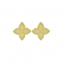 Roberto Coin 18k Yellow Gold Princess Flower Collection Large Flower Stud Earrings