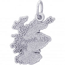 Sterling Silver Scotland Map Charm