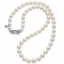MIKIMOTO 18k White Gold Pearl Necklace