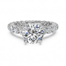 Ritani Shared-Prong Diamond Band Engagement Ring