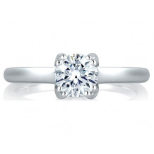 A. Jaffe 18k White Gold Split Prong Simple Solitaire Engagement Ring