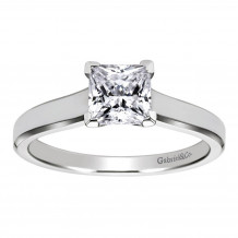 Gabriel & Co 14k White Gold Princess Cut Solitaire Engagement Ring