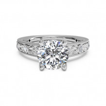 Ritani Grecian Leaf Diamond Band Engagement Ring with Surprise Diamonds