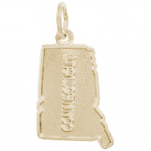 14k Gold Connecticut Charm