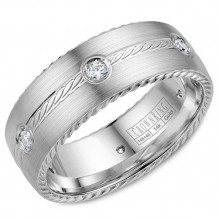 CrownRing 14k White Gold Diamond Wedding Band
