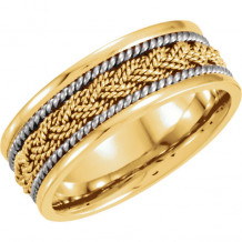 Stuller 14k Two Tone Gold Woven Wedding Band