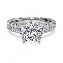 Ritani Double French-Set Band Engagement Ring