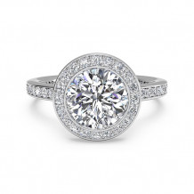 Ritani Halo Micropave Diamond Band Engagement Ring