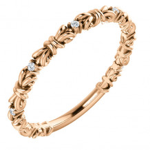 Stuller 14k Rose Gold .04ct Diamond Stackable Ring