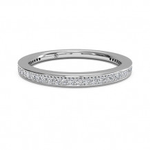 Ritani Women's Micropave Diamond Eternity Wedding Band