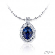 JB Star Platinum Sapphire and Diamond Pendant