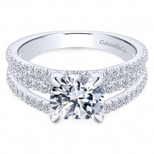 Gabriel & Co. 18k White Gold Diamond Straight Engagement Ring
