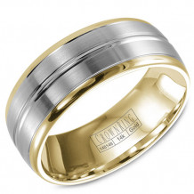 CrownRing 14k Two Tone Gold Wedding Band