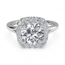 Ritani French-Set Halo Diamond Engagement Ring