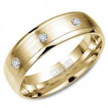 CrownRing 14k Yellow Gold Diamond Wedding Band