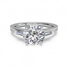 Ritani Tapered Baguette Diamond Band Engagement Ring